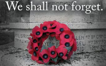 We Shall Not Forget – Remembrance Day Parade – Sunday November 6, 2016